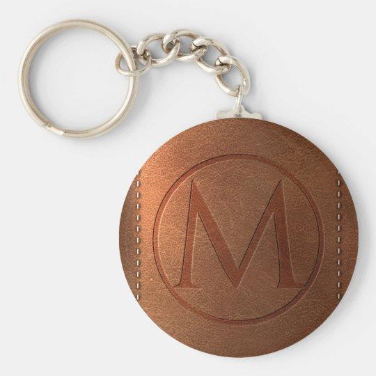 Porte-clés alphabet cuir lettre M