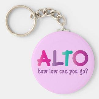 Porte-clés Alto coloré comment le bas peut vous aller cadeau