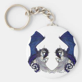 Porte-clés Amants de licorne et de mariage de dragon