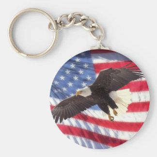 Porte-clés Américain Eagle et porte - clé de drapeau