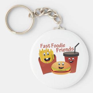 Porte-clés Amis rapides de sourire de fin gourmet