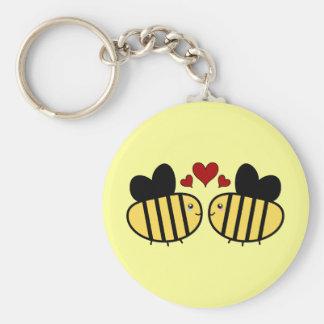 Porte-clés Amour d'abeille de miel