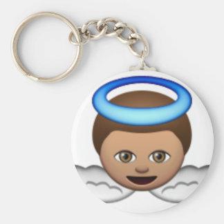 Porte-clés amour de halo d'emoji d'ange de bébé