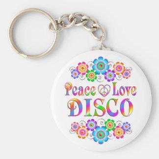 Porte-clés Amour de paix de disco