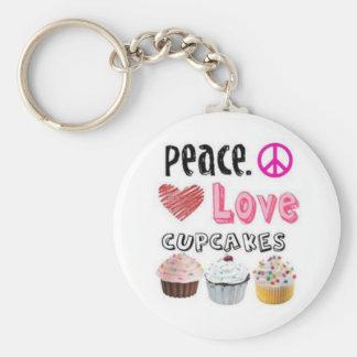 Porte-clés amour de paix et porte - clé de petits gâteaux