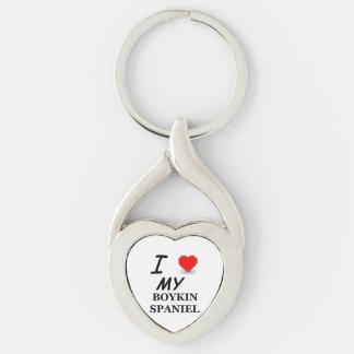 Porte-clés amour d'épagneul de boykin