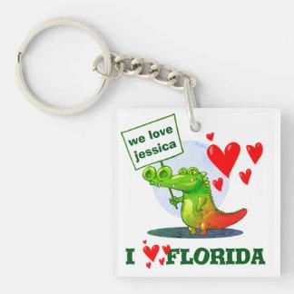 Porte-clés amour drôle la Floride de la bande dessinée i de