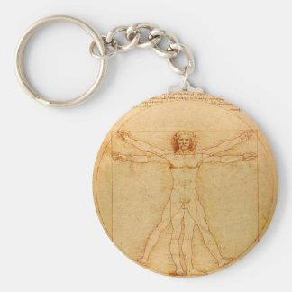 Porte-clés Anatomie humaine, homme de Vitruvian par Leonardo
