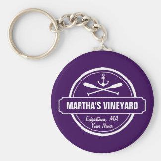 Porte-clés Ancre nautique de ville faite sur commande de mA
