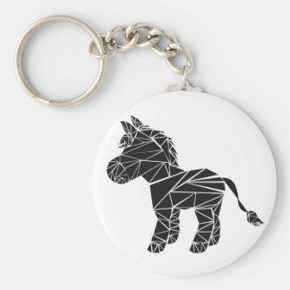 Porte-clés Âne noir