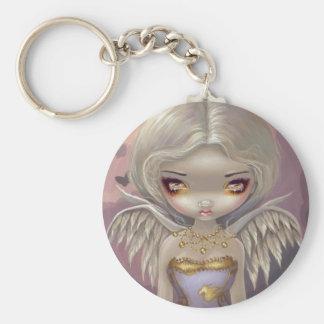 """Porte-clés """"Ange dans"""" le porte - clé lilas"""