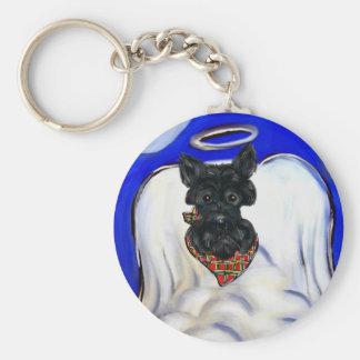 Porte-clés Ange noir de Terrier d'écossais