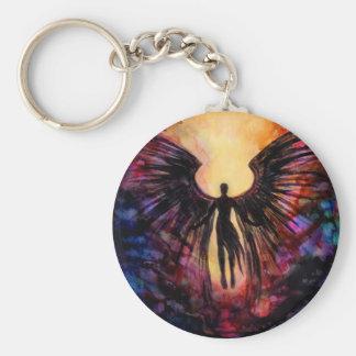 Porte-clés Ange tombé - peinture contemporaine