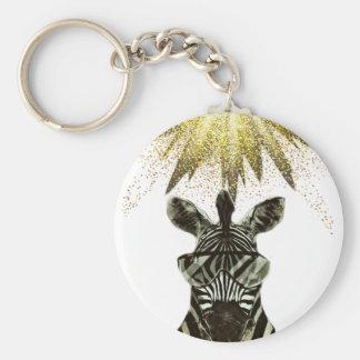 Porte-clés Animal de style de zèbre de hippie