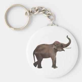 Porte-clés Animaux sauvages vintages, éléphants asiatiques de