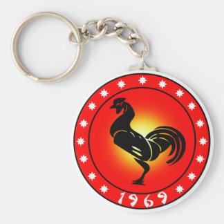 Porte-clés Année du coq 1969