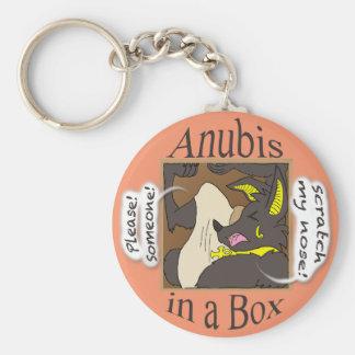 Porte-clés Anubis dans une boîte (yeux fermés)