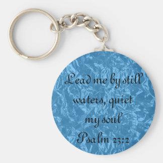 Porte-clés Apaisez mon porte - clé de 23:2 de psaume de vers