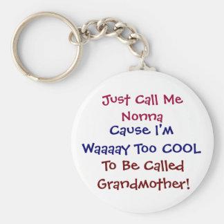 Porte-clés Appelez-juste moi Nonna porte - clé frais de