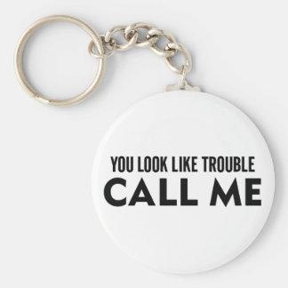 Porte-clés Appelez-moi problème