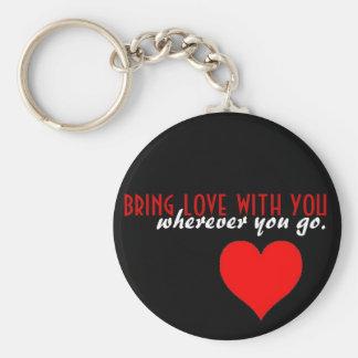 Porte-clés Apportez l'amour