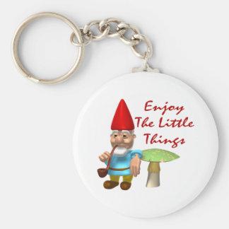 Porte-clés Appréciez le petit gnome de choses