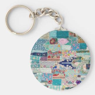 Porte-clés Aqua et conception bleue de tapisserie d'édredon