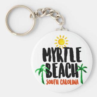 Porte-clés Aquarelle de Myrtle Beach