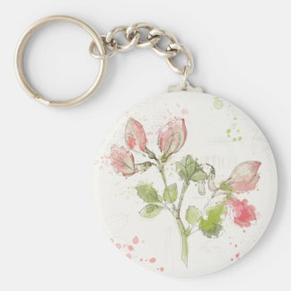 Porte-clés Aquarelle de pois doux