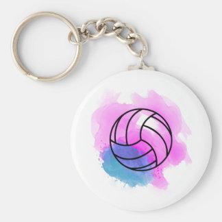 Porte-clés Aquarelle de volleyball