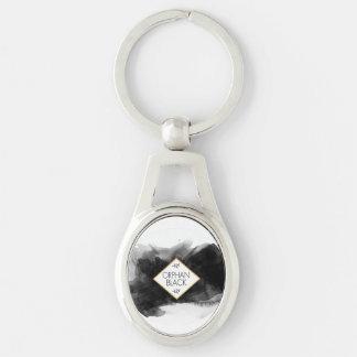 Porte-clés Aquarelle noire noire orpheline