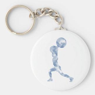 Porte-clés Aquarelle propre et secousse dans le bleu