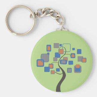 Porte-clés Arbre abstrait des chiffres colorés