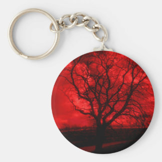Porte-clés Arbre chauve abstrait