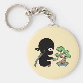Porte-clés Arbre de arrosage minuscule de bonsaïs de Ninja