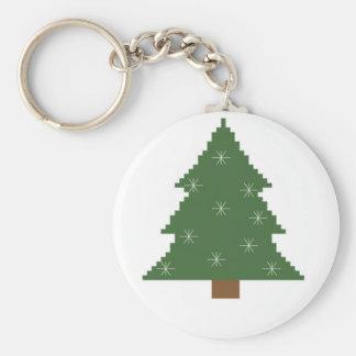 Porte-clés Arbre de Noël avec des étoiles
