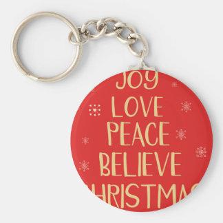 Porte-clés Arbre de Noël conceptuel des mots. Backgrou rouge