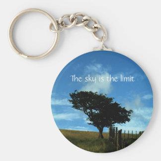 Porte-clés Arbre solitaire - le ciel est le porte - clé de la