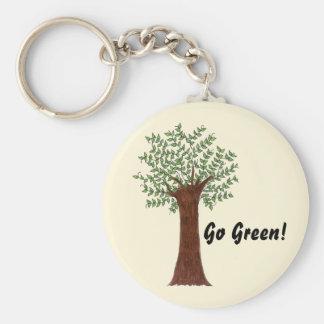 Porte-clés Arbre vert grand