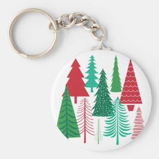 Porte-clés arbres de Noël contemporains modernes