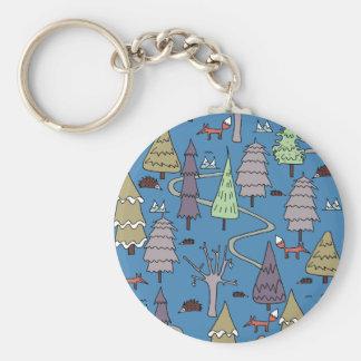 Porte-clés arbres d'hiver