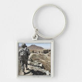 Porte-clés Armée nationale afghane et soldats des USA