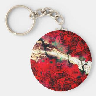 Porte-clés Armes à feu et roses