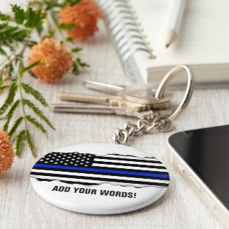 Porte-clés Arraché regardez le texte de coutume de drapeau de