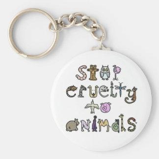 Porte-clés Arrêtez le porte - clé de cruauté