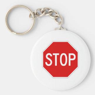 Porte-clés Arrêtez le signe