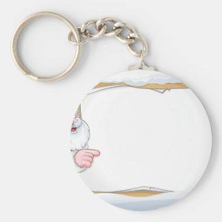 Porte-clés Arrière - plan de signe de Noël du père noël