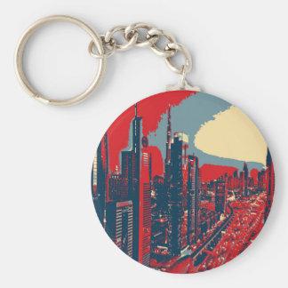 Porte-clés Art de bruit artistique d'horizon de Dubaï