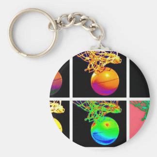 Porte-clés Art de bruit de cercles de basket-ball de B-Ball