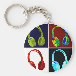Porte-clés Art de bruit d'écouteurs